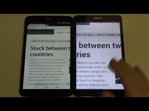 Samsung Galaxy Tab Pro 8.4 vs LG G Pad 8.3