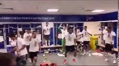 Deutsche Confed Cup Sieger feiern in Kabine Party und rasten aus nach Titelgewinn 2017 gegen Chile