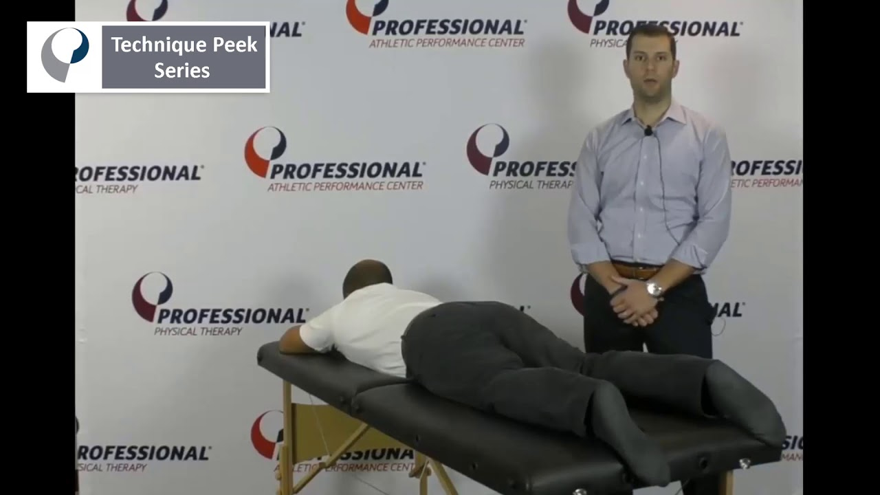 Technique Peek Series - Hip Mobilizations in Prone Position