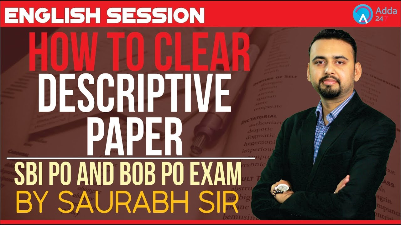 how to clear descriptive paper in sbi po bob po by saurabh sir letter essay topics