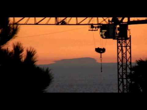 Mirage Island coast crane
