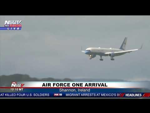 WATCH: President Trump Arrives in Shannon, Ireland