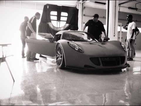 The Worlds Fastest Car. 1244BHP Hennessey Venom GT, On  Board. On Track