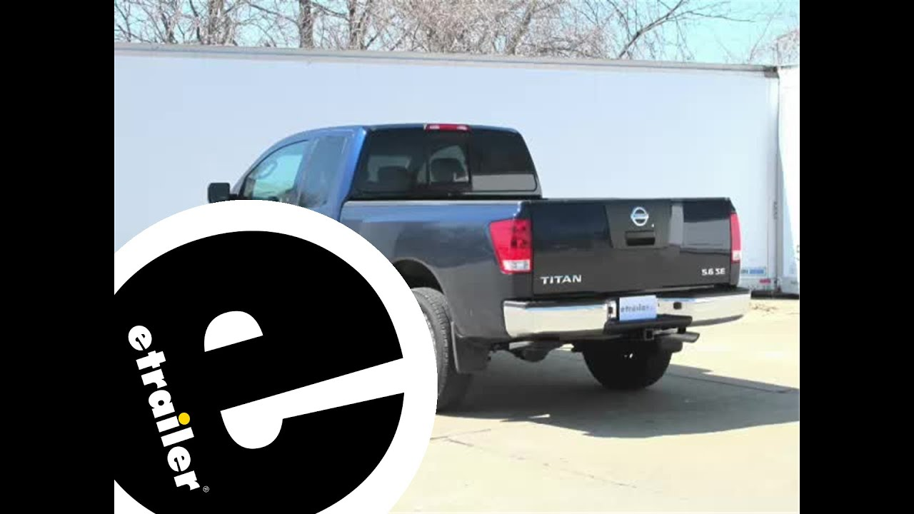installation of a trailer hitch on a 2010 nissan titan etrailer installation of a trailer hitch on a 2010 nissan titan etrailer com