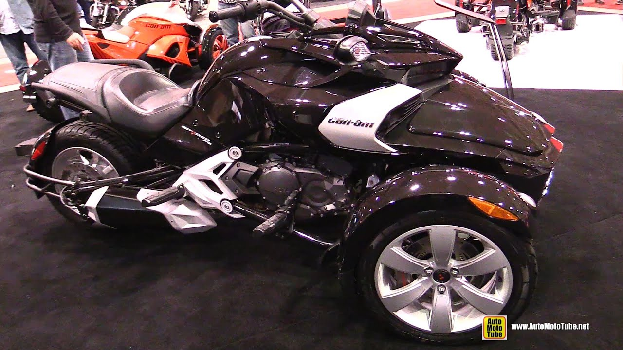 2015 can am spyder f3 black walkaround 2015 toronto motorcycle show youtube. Black Bedroom Furniture Sets. Home Design Ideas