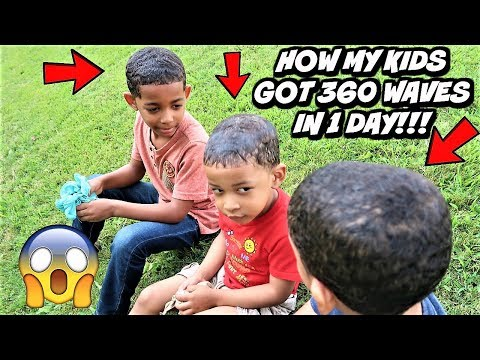 HAIRCUT: HOW I GOT MY KIDS 360 WAVES IN 1 DAY (CRAZY PROGRESS) NO CLICK BAIT!