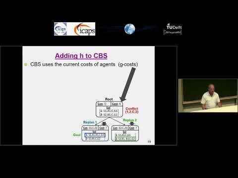 """ICAPS 2018: Ariel Felner on """"Adding Heuristics to Conflict-Based Search for Multi-Agent Path ..."""""""