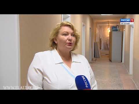 В Горно-Алтайске продолжается ремонт республиканской поликлиники