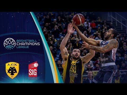 AEK v SIG Strasbourg - Full Game - Basketball Champions League 2017-18