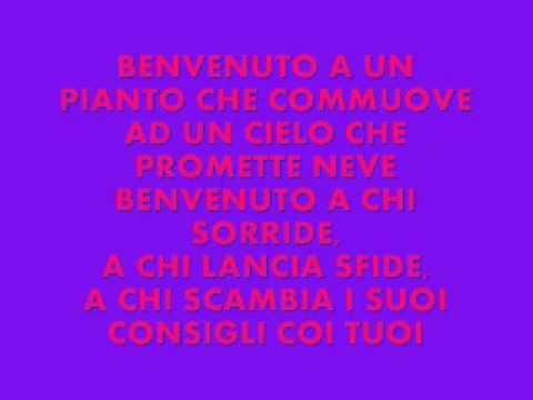 Laura Pausini - Benvenuto con lyrics