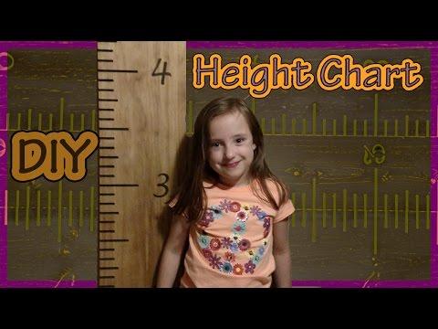 DIY Height Chart Ruler