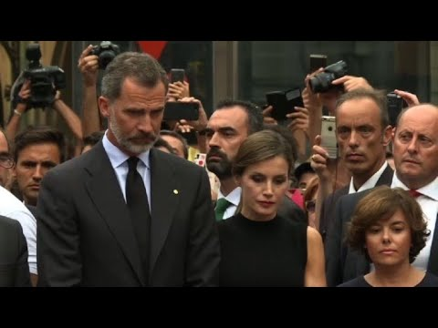 Spanish King pays tribute to the victims of Barcelona attack