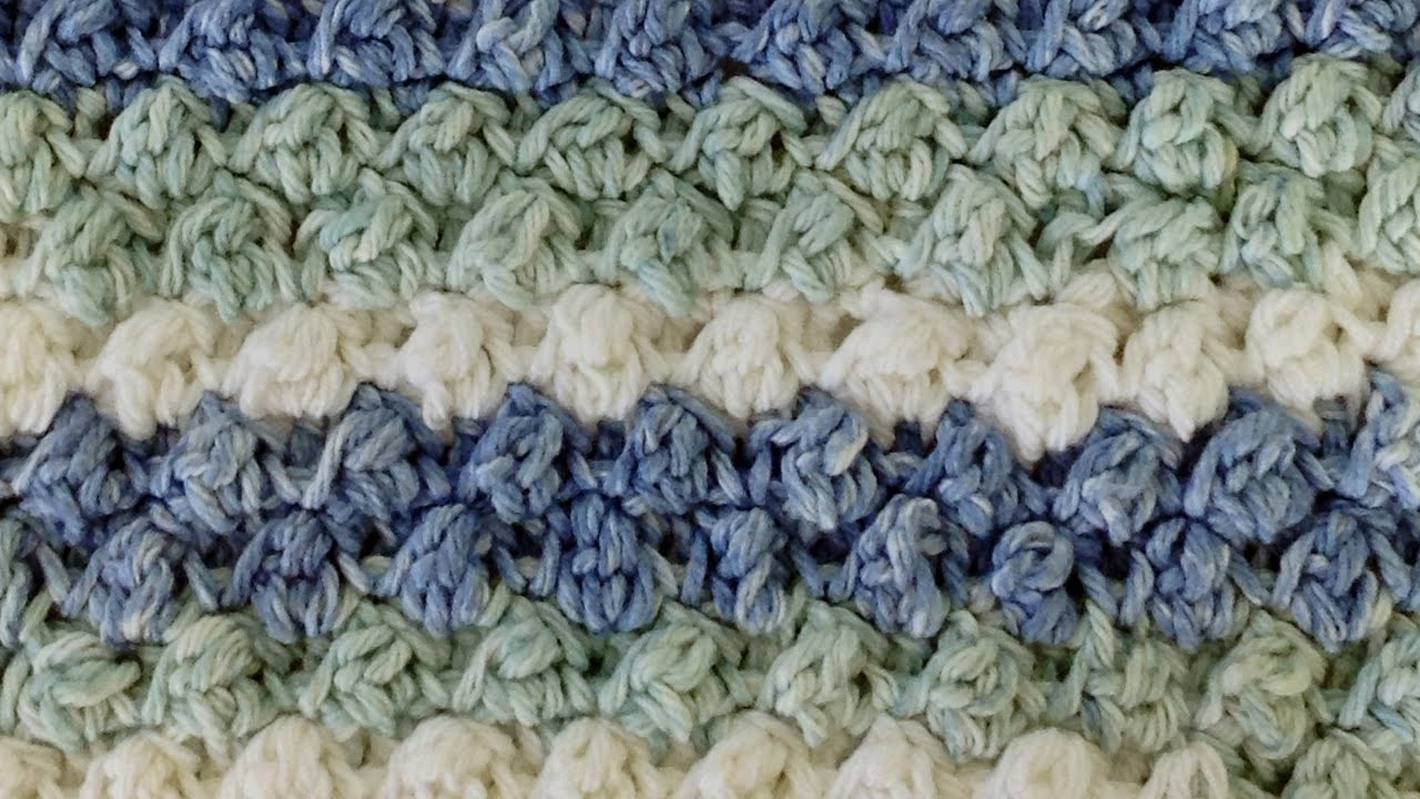 Stitch Repeat Berry Stitch Free Crochet Pattern Right Handed Youtube