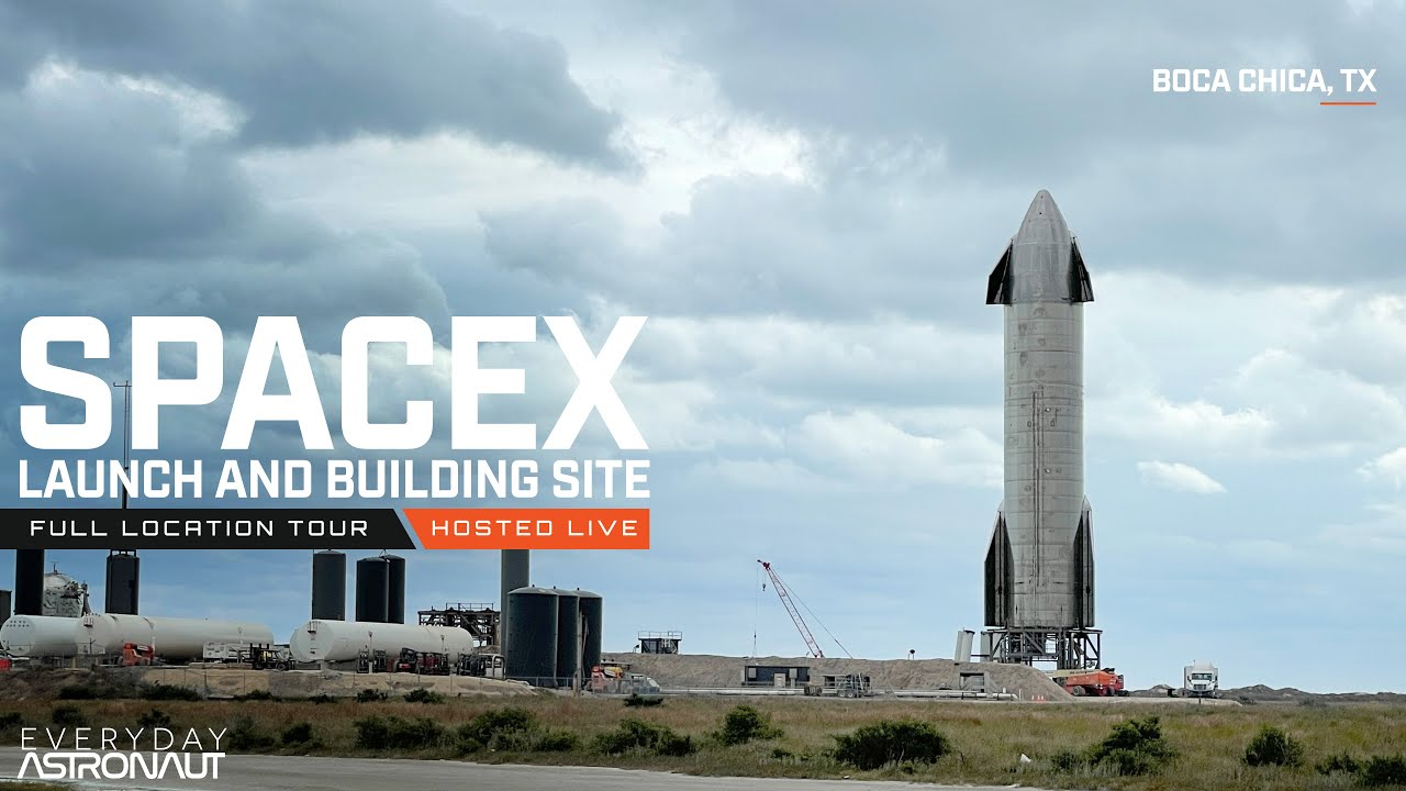 A Tour of SpaceX's Boca Chica facilities [LIVE]