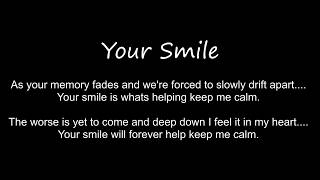 "Audio snippet from the song, ""Your Smile"""