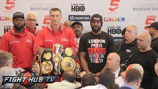 Wladimir Klitschko vs. Bryant Jennings full video - Final Press conference + face off