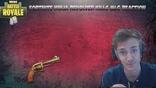 Fortnite Battle Royale- Ninja 4 Revolver Kills at 1hp MLG Reaction