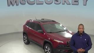 A99231GT Used 2014 Jeep Cherokee Trailhawk 4WD SUV Red Test Drive, Review, For Sale -