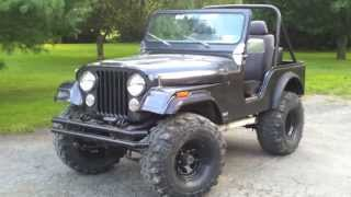1976 CJ5 Built AMC360 Fiberglass Body idle