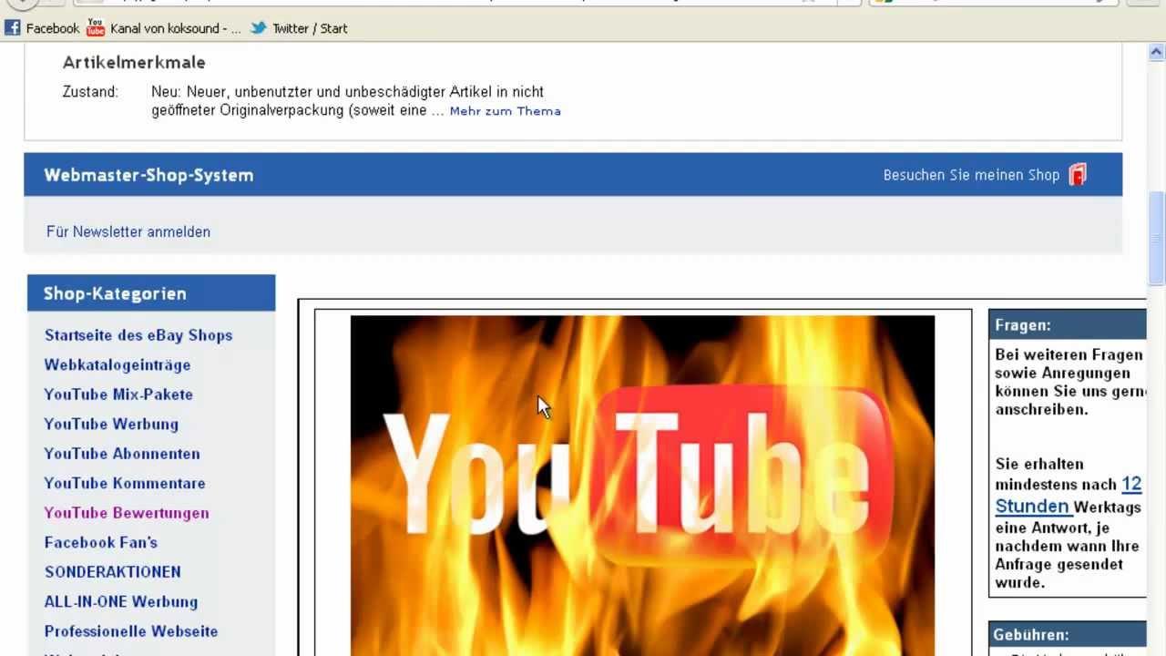 Youtube Abonnenten Und Facebook Likes Auf Ebay Kaufen Geht Das