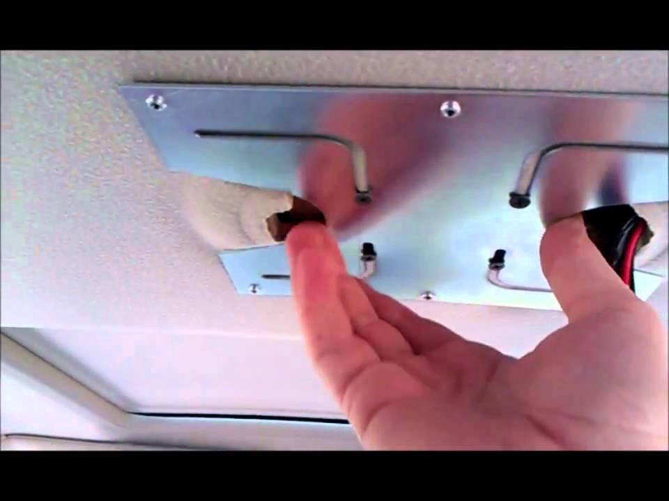 2004 Chevy Suburban overhead DVD install - YouTube