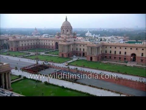 Lutyens' Delhi buildings of South and North block seen from ahigh