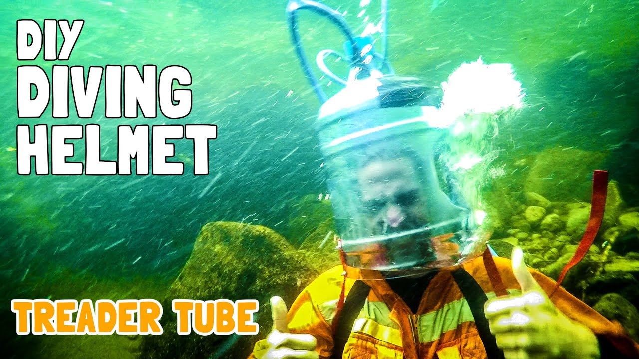 Diy scuba diving helmet treader tube youtube for Dive tube