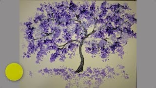 How to draw a TREE. Very simple and unusual technique.
