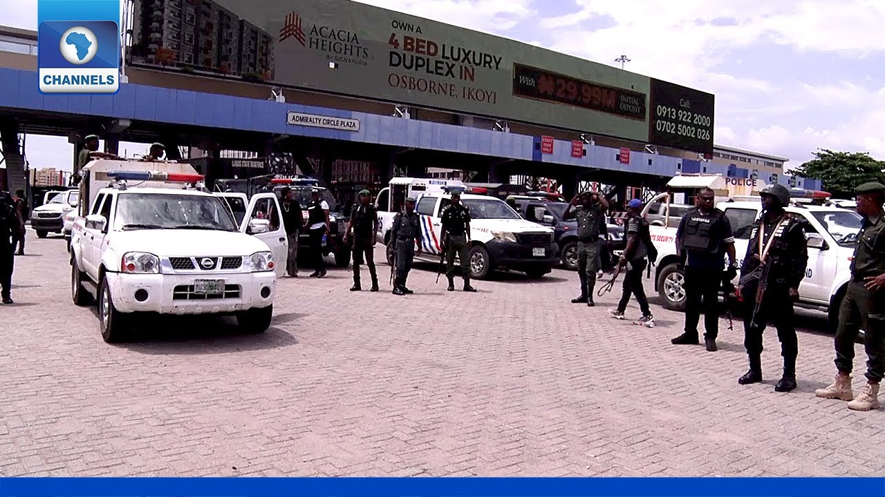 Download #ENDSARS: Police Conduct Show Of Force Ahead Of Planned Protest