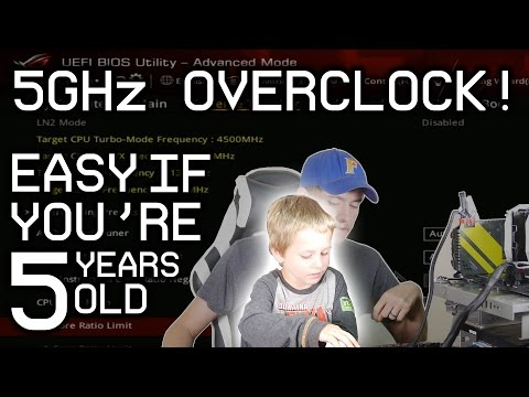 7700K 5GHz Overclocking! - So Simple  A Child Can Do It