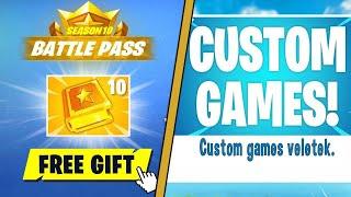 GIVEAWAY + CUSTOM GAMES (Fortnite Season 10 Battle Pass English)