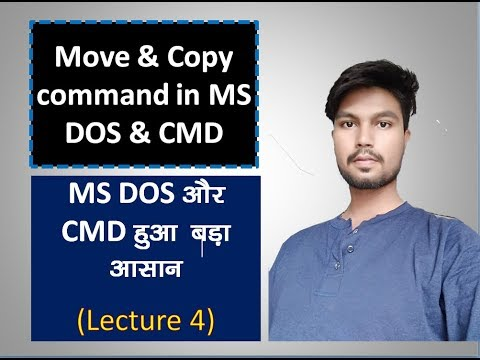 Move And Copy Command In CMD Lecture 4
