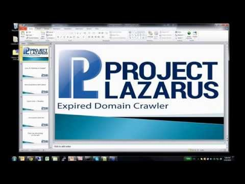 Project Lazarus Most Powerful Domain Crawler on the planet Private Release Webinar