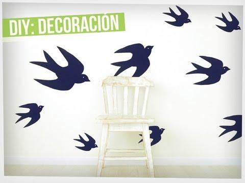 Renueva la decoraci n de tu hogar sin gastar tanto dinero - Dibujos faciles para paredes ...