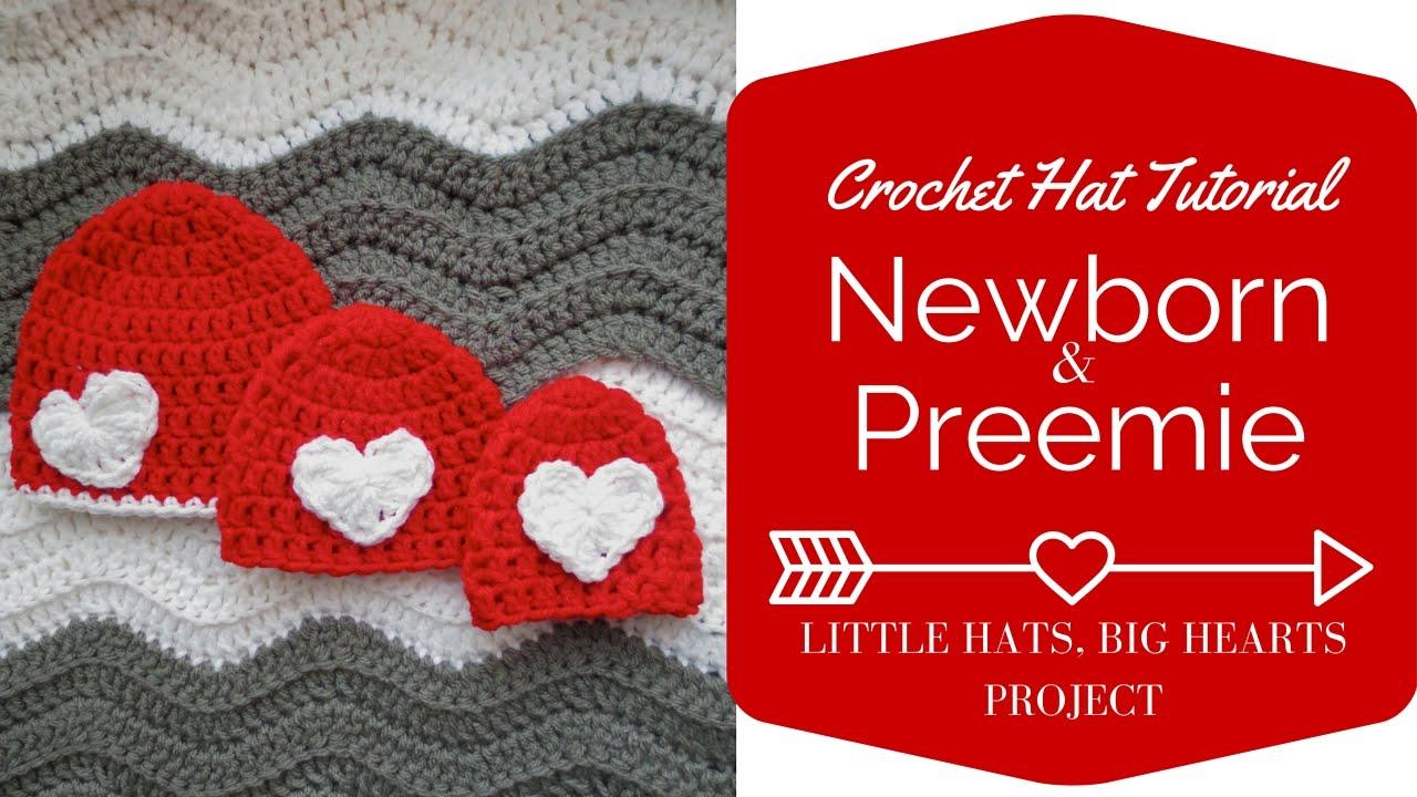 185081eb1b7 Newborn and Preemie Crochet Hat Tutorial  Little Hats