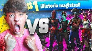 EPIC VICTORIA SOLO VS ESCUADRONES en FORTNITE: Battle Royale!! - Agustin51