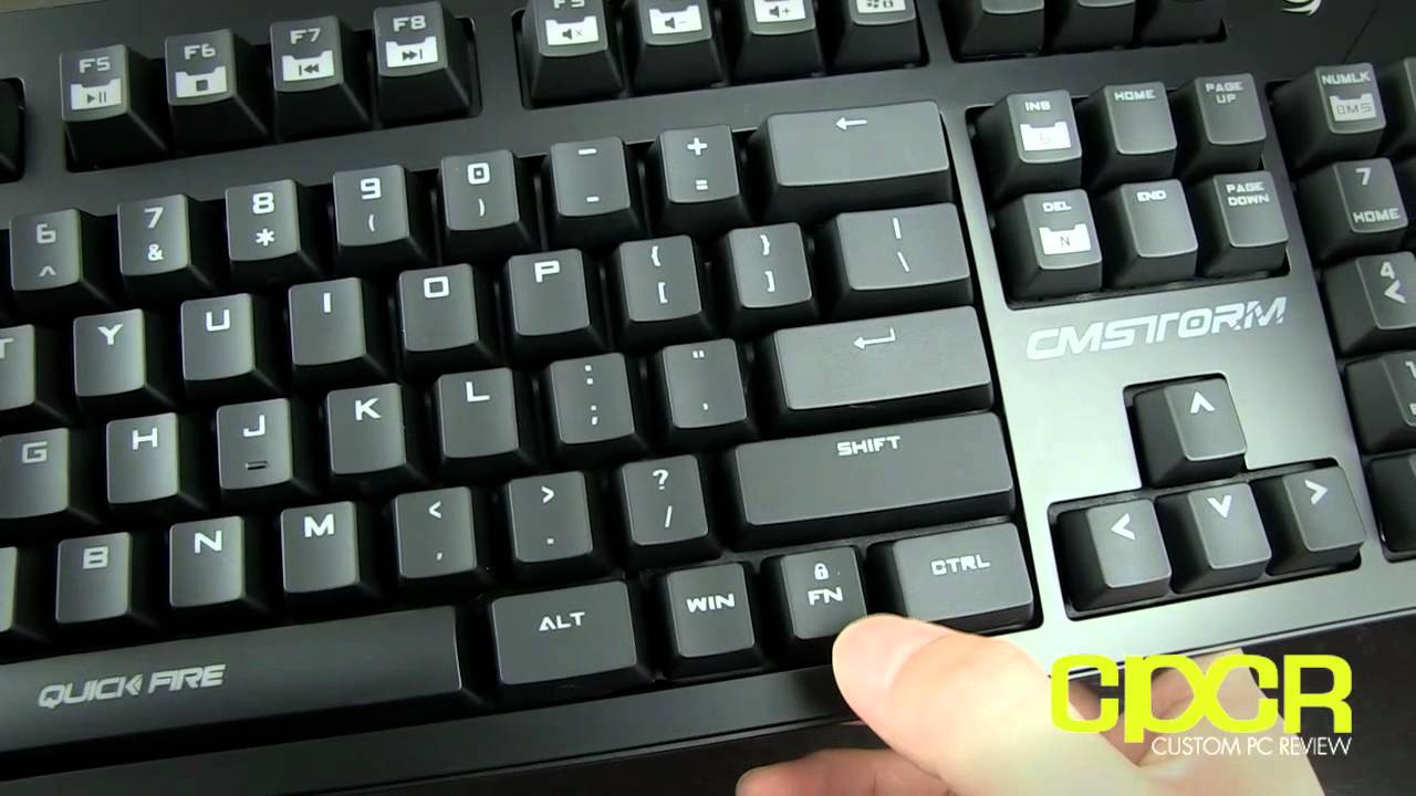 badaa10696a CM Storm QuickFire Pro Mechanical Gaming Keyboard Review   Custom PC Review