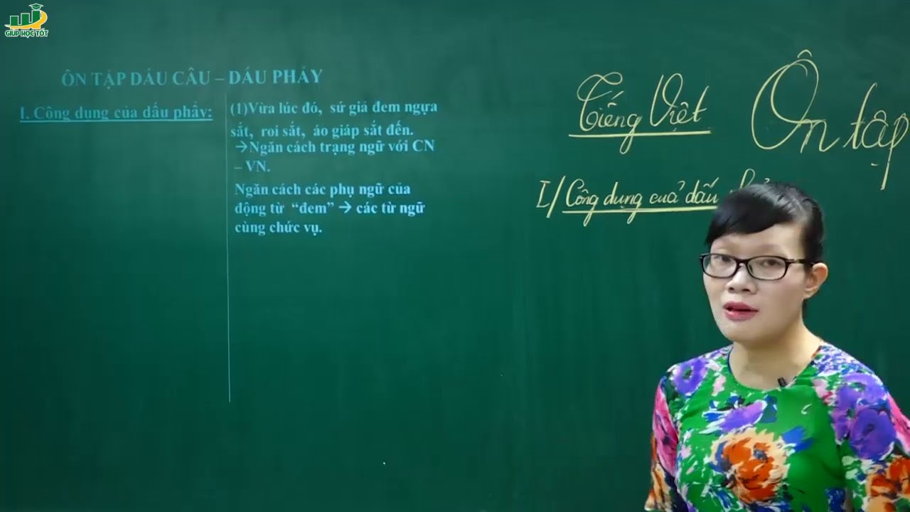 Ngữ Văn Lớp 6 –Bài giảng Ôn tập dấu câu ngữ văn lớp 6 Tiếng Việt Các biện pháp tu từ Cô Lê Hạnh