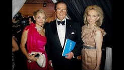 Actor Roger Moore and his wife Christina Tholstrup and his daughter and sons