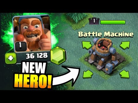 "Thumbnail: NEW HERO ""BATTLE MACHINE"" UNLOCKED IN CLASH OF CLANS!! - EPIC GEM SPREE CONTINUES!"