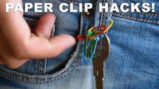 10 Paper Clip Hacks - LIFE HACKS