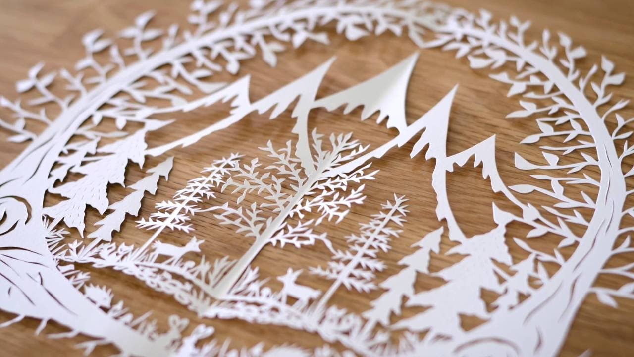 PAPER CUTTING: Sketching & Cutting Your Piece - Part 2 - YouTube