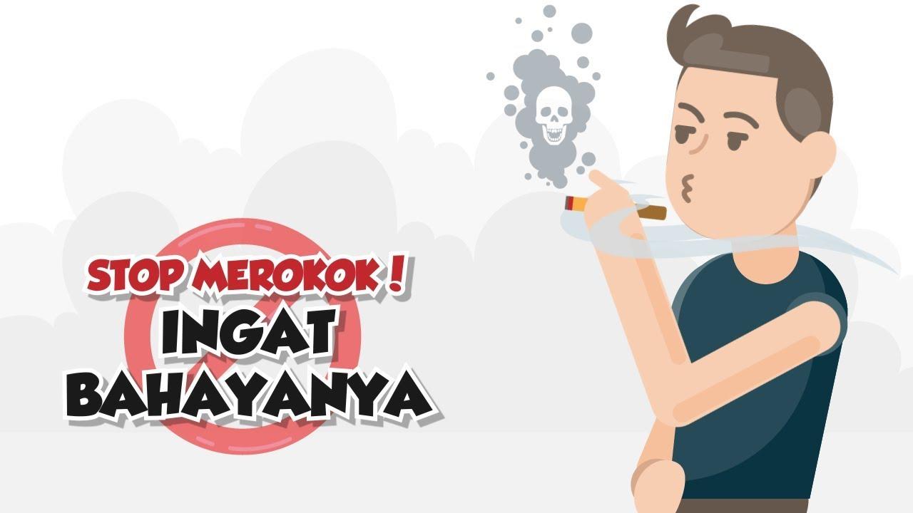 Bahaya Merokok Gambar Animasi Motion Grafis Stop Merokok Ingat Bahayanya Youtube