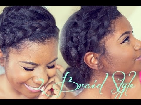braid natural hair styles braid hairstyle goddess braid amp fishtail braid 1192 | hqdefault