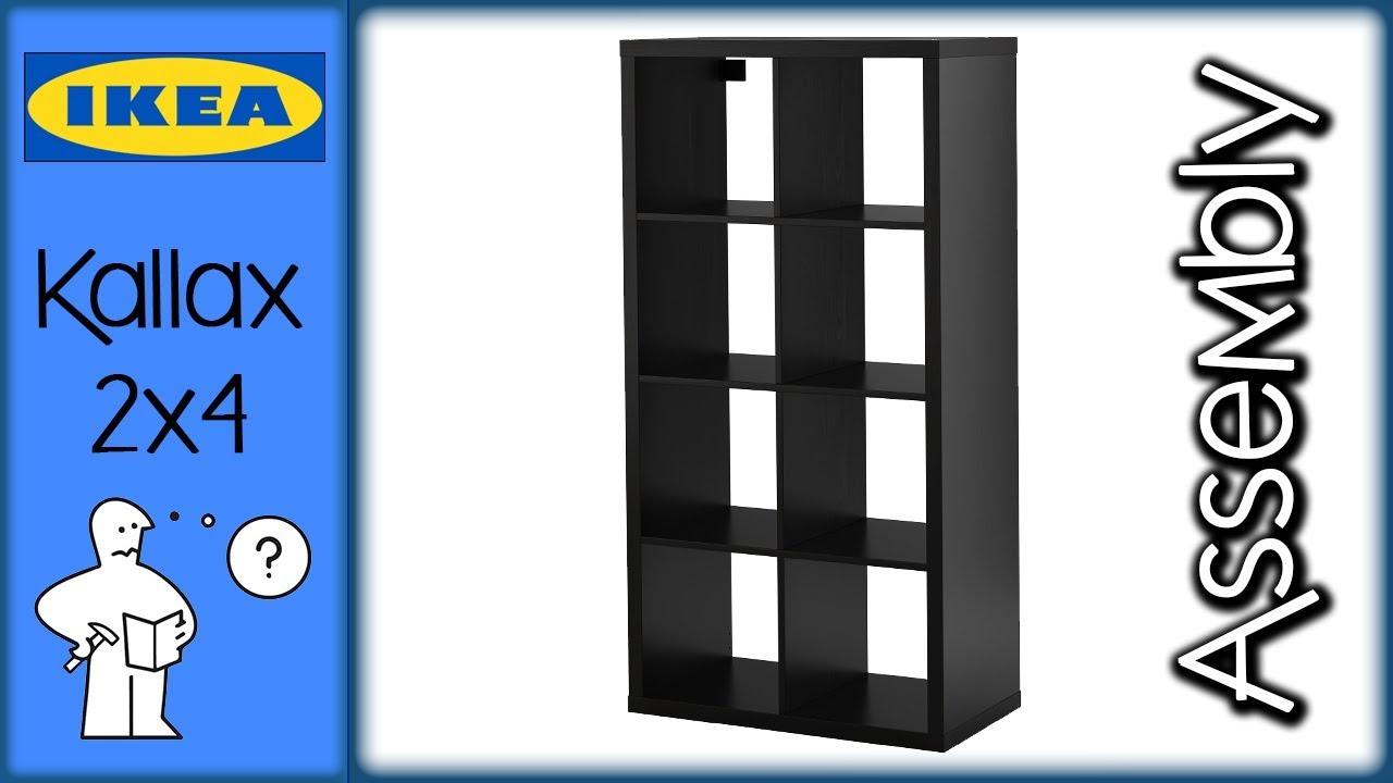 Scala Per Libreria Ikea ikea kallax 4x2 - shelf assembly - montaggio scaffale