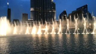 Dubai fountain Michael Jackson-Thriller