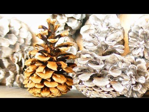 Weihnachtsdeko selber machen mit TANNENZAPFEN | Weihnachtsbaumdeko für Weihnachtskranz & Geschenk