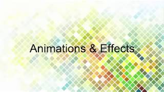 MS Office PowerPoint 2007   Animations & Effects