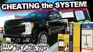 Cheating the System! Ford F250 Viper DS4+ SmartStart Pro Alarm | EASY install Unlimited range