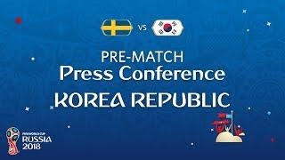 Fifa world cup™ 2018: sweden - korea republic: korea republic pre-match press conference
